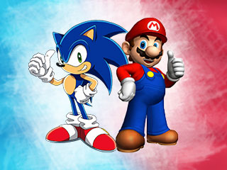 Mario and Sonic were born enemies!