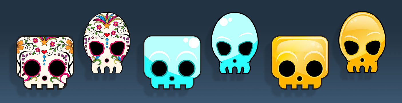 skull collectables art pack