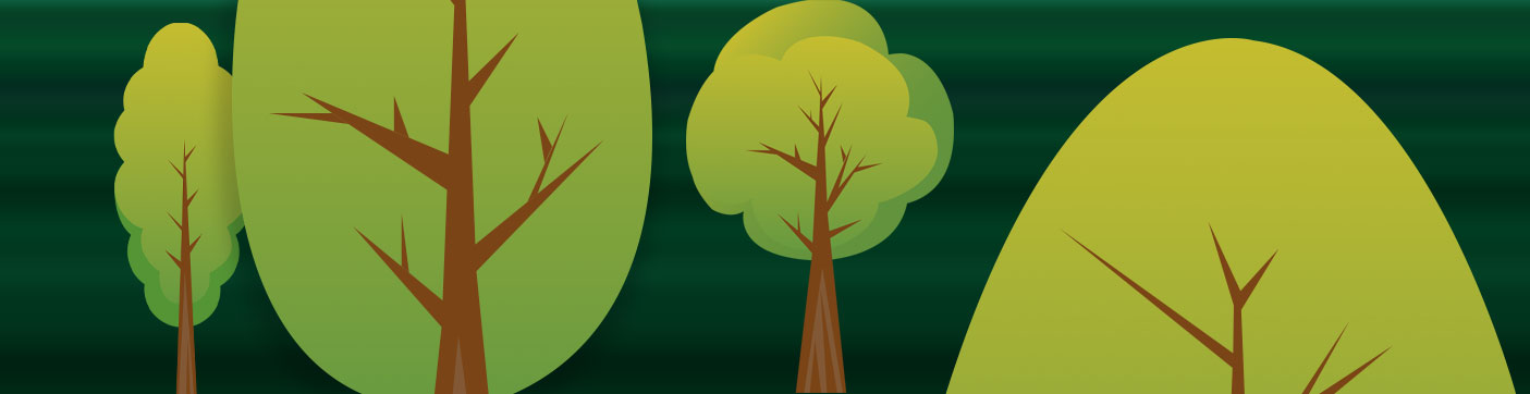 green flat tree art pack